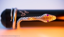 Detail of the snake clip from the Agatha Christie