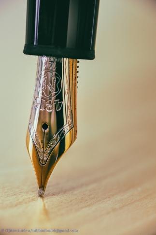 OM-Nib of a modern Montblanc fountain pen