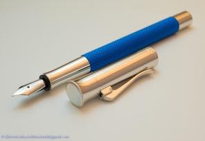 Graf von Faber-Castell Guilloche, blue, uncapped