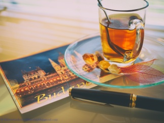 Postcard from Budapest - stilllife with a fountain pen