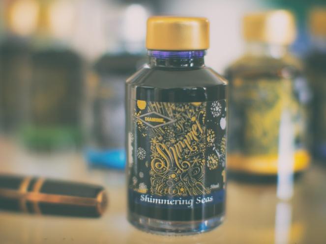 Diamine Shimmer ink - Shimmering Seas